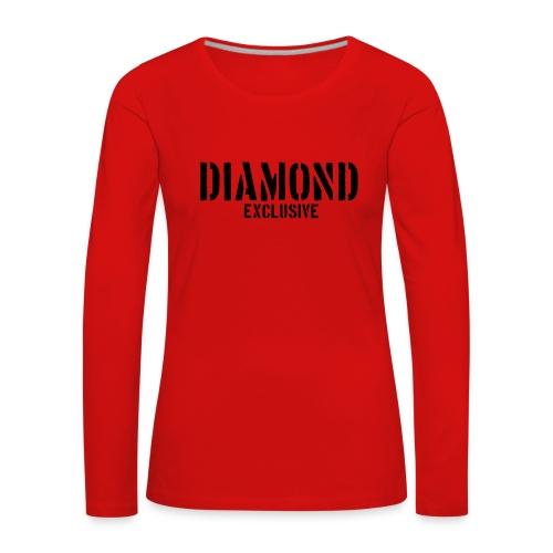 Diamond exclusive V1 apr.2019 - Vrouwen Premium shirt met lange mouwen