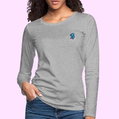 Blueguin - Dame premium T-shirt med lange ærmer