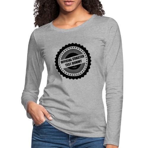 Mannequin d'essai officiel de montagnes russes - T-shirt manches longues Premium Femme