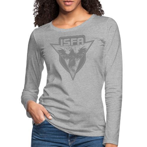 isfa logo 1c grau - Frauen Premium Langarmshirt
