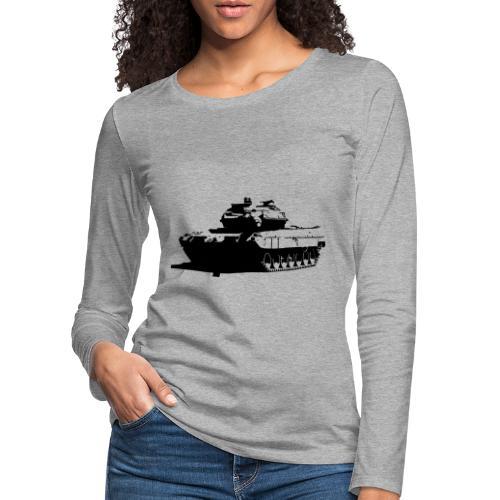 Leopard 2 Kampfpanzer - Stridsvagn 122 - Långärmad premium-T-shirt dam