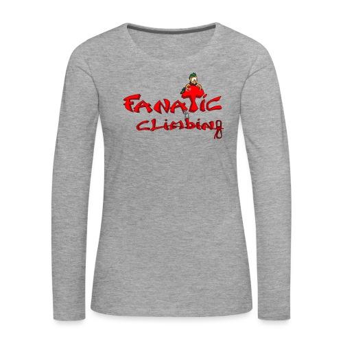 Fanatic Climbing - T-shirt manches longues Premium Femme
