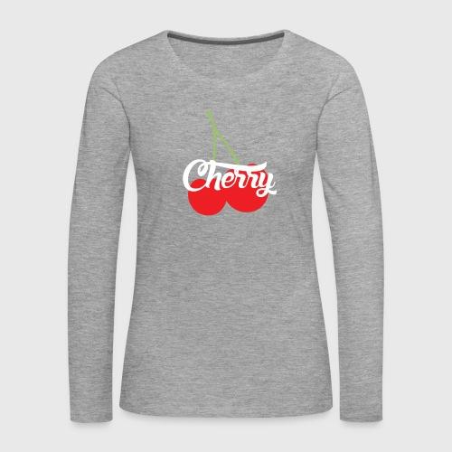 Cherry - T-shirt manches longues Premium Femme