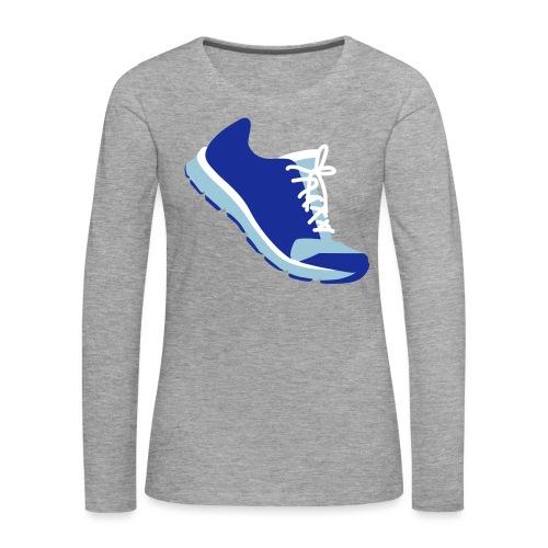 Laufschuh - Frauen Premium Langarmshirt