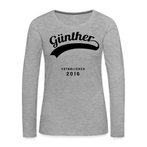Günther Original - Frauen Premium Langarmshirt