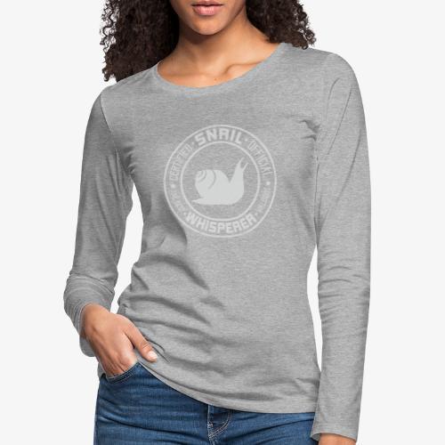 Snail Whisperer Grey - Naisten premium pitkähihainen t-paita