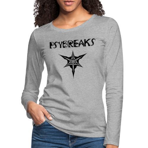 Psybreaks visuel 1 - text - black color - T-shirt manches longues Premium Femme
