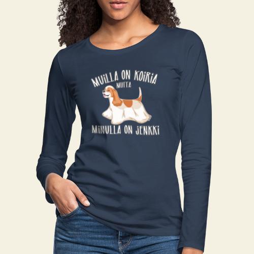 Jenkki Koiria - Naisten premium pitkähihainen t-paita
