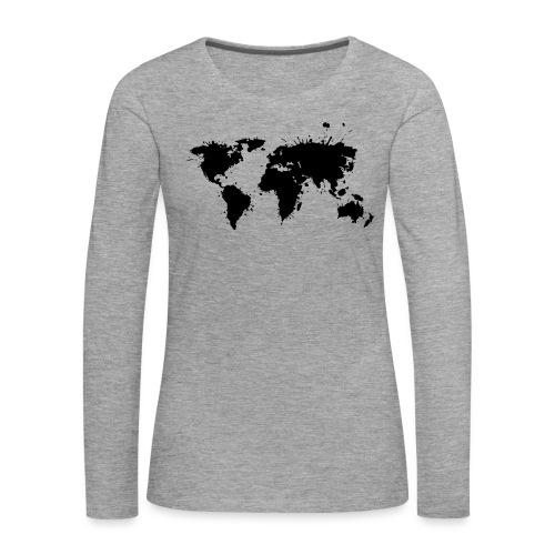 Weltkarte Splash - Frauen Premium Langarmshirt