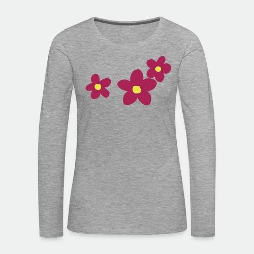 Three Flowers - Women's Premium Longsleeve Shirt