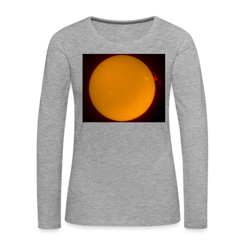 Sonne in H-Alpha - Frauen Premium Langarmshirt