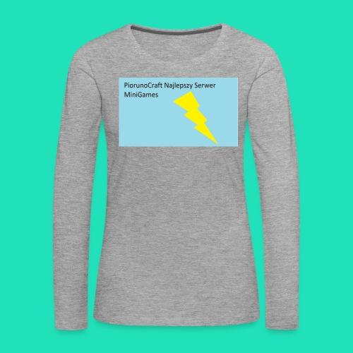 Koszulka Dla Dzieci PiorunoCraft - Koszulka damska Premium z długim rękawem