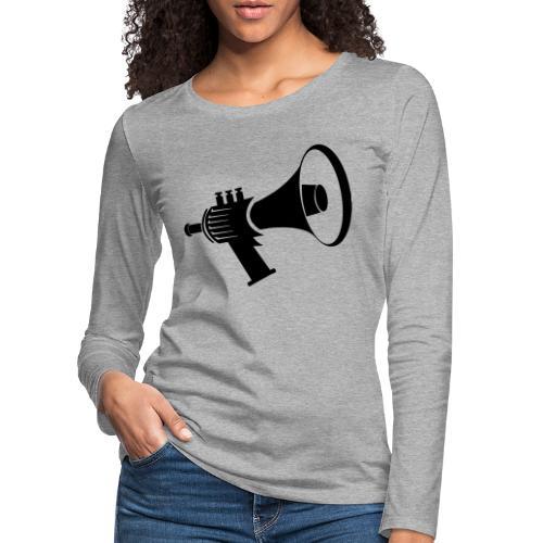 Tromptoeter René van Densen zwart - Vrouwen Premium shirt met lange mouwen
