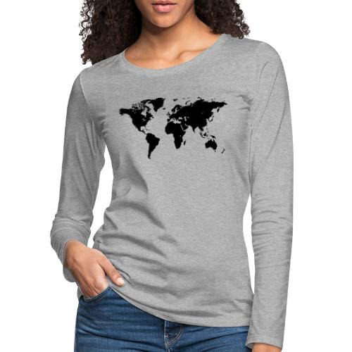 World Map - Frauen Premium Langarmshirt