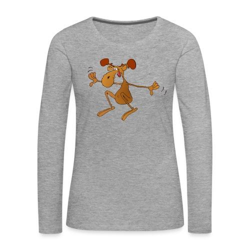 elch huepft - Frauen Premium Langarmshirt