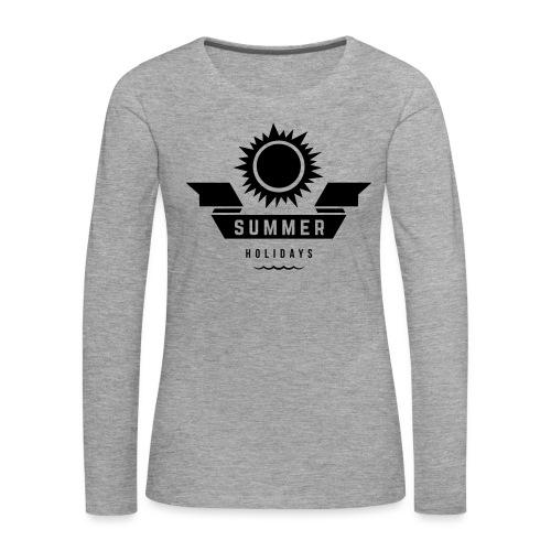 Summer holidays - Naisten premium pitkähihainen t-paita