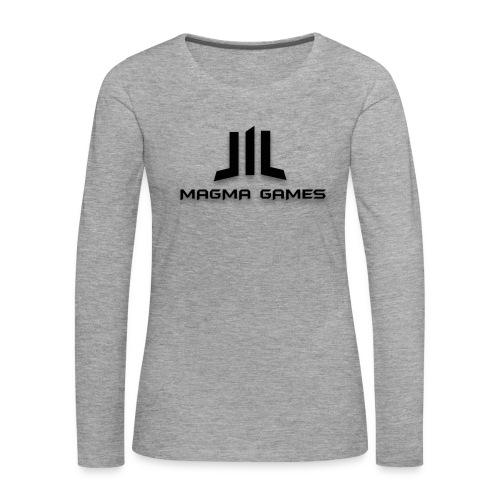 Magma Games muismatje - Vrouwen Premium shirt met lange mouwen