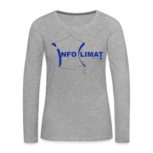 logo simplifié - T-shirt manches longues Premium Femme