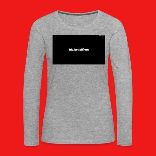 New - Dame premium T-shirt med lange ærmer