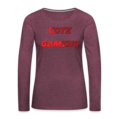 Cote Sweater Rode Letters - Women's Premium Longsleeve Shirt