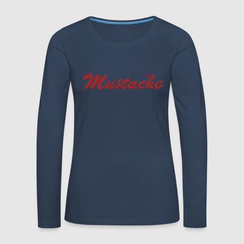 Red Mustache Lettering - Women's Premium Longsleeve Shirt