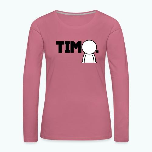 Design met ventje - Vrouwen Premium shirt met lange mouwen