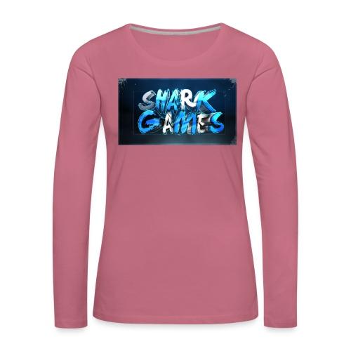 SharkGames - Maglietta Premium a manica lunga da donna
