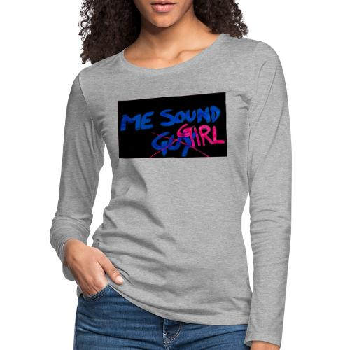 me = soundgirl - Women's Premium Longsleeve Shirt