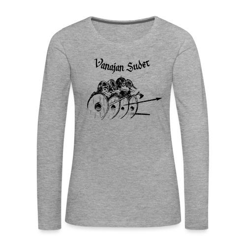 Kilpimuuri A - Naisten premium pitkähihainen t-paita