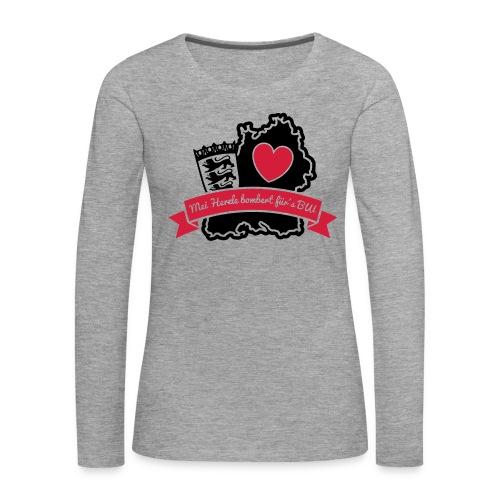 Herzle BW - Frauen Premium Langarmshirt