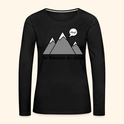 mountains calling - Frauen Premium Langarmshirt