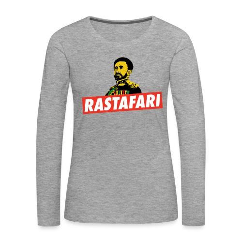 Rastafari - Haile Selassie - HIM - Jah Rastafara - Frauen Premium Langarmshirt