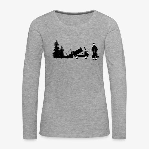 Pissing Man against environmental pollution - Frauen Premium Langarmshirt