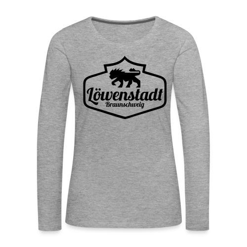 Löwenstadt Design 1 schwarz - Frauen Premium Langarmshirt