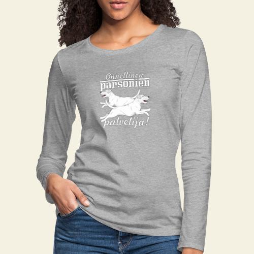 parsonienpalvelija3 - Naisten premium pitkähihainen t-paita