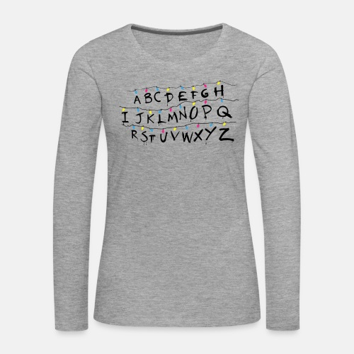 Stranger Things Alphabet Women's T-Shirts - Women's Premium Longsleeve Shirt