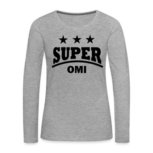 cool super omi raster - Vrouwen Premium shirt met lange mouwen