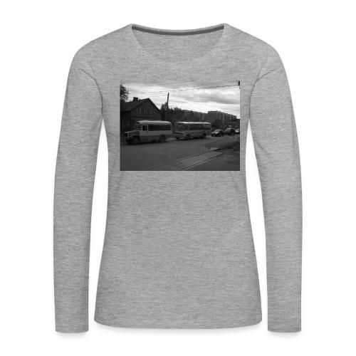 Aika on pysähtynyt Sortavalassa - Naisten premium pitkähihainen t-paita