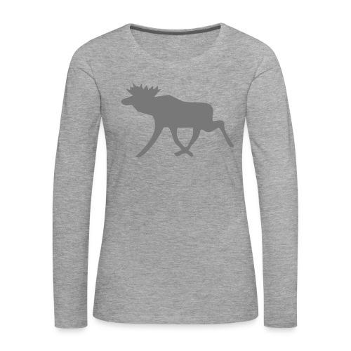 Schwedenelch; schwedisches Elch-Symbol (vektor) - Frauen Premium Langarmshirt