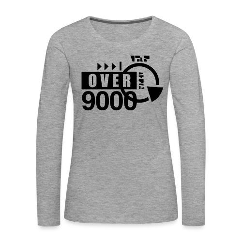 over 9000 - Women's Premium Longsleeve Shirt