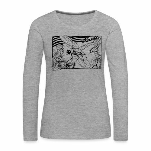 Dragonfly - Koszulka damska Premium z długim rękawem