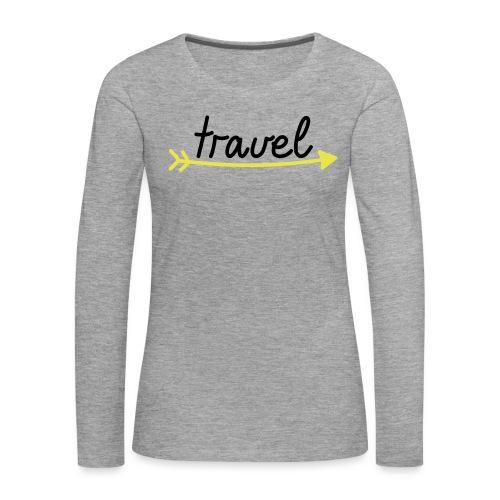 Travel - Frauen Premium Langarmshirt