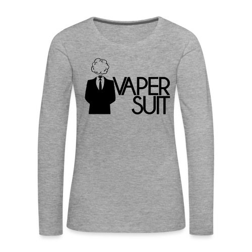 VAPER SUIT - Koszulka damska Premium z długim rękawem