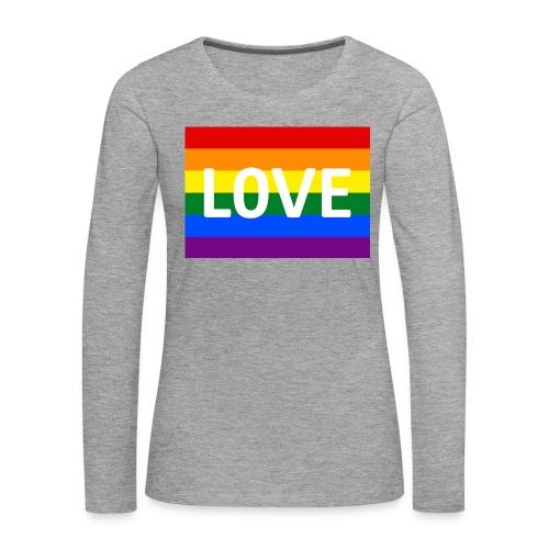 LOVE RETRO T-SHIRT - Dame premium T-shirt med lange ærmer