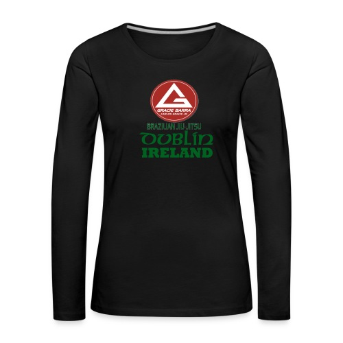 Gracie Barra Dublin Gaelic Celtic Font PNG - Women's Premium Longsleeve Shirt