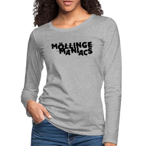 Möllinge Maniacs svart logga - Långärmad premium-T-shirt dam