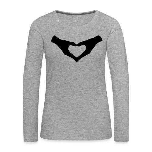 Herz Hände / Hand Heart 2 - Frauen Premium Langarmshirt