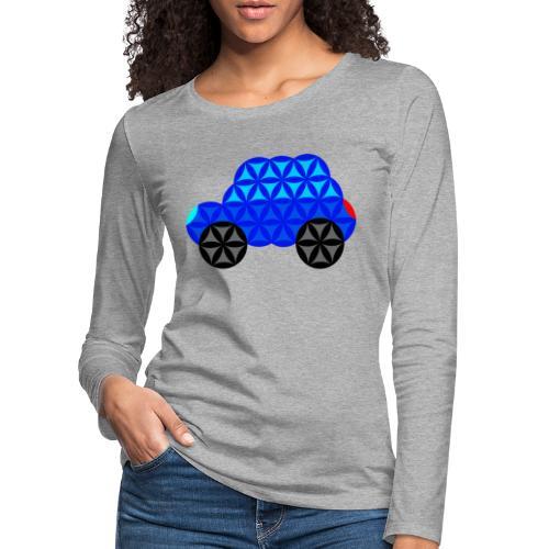 The Car Of Life - M01, Sacred Shapes, Blue/R01. - Women's Premium Longsleeve Shirt
