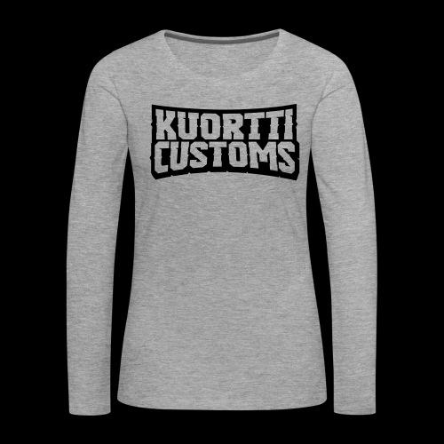kuortti_customs_logo_main - Naisten premium pitkähihainen t-paita
