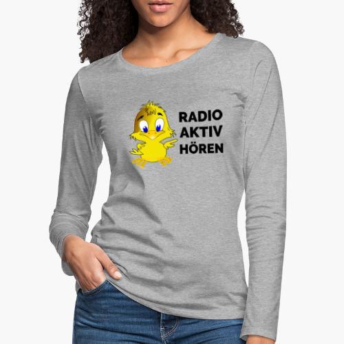 Radio Aktiv hören - Frauen Premium Langarmshirt